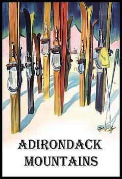 Adirondack Mountains Skis by David Seguin
