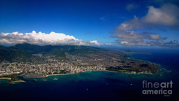 Cheryl Young - Aerial Oahu Honolulu Diamond Head