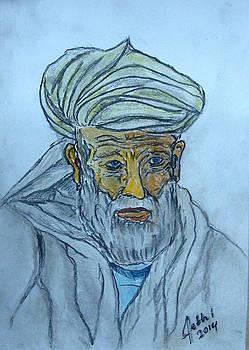 Afghan Old man by Fethi Canbaz