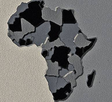 Africa Map by Jacqueline Mason