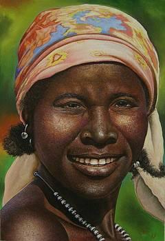 African Smile by Pravin  Sen