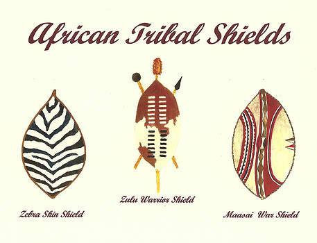African Tribal Shields Number 2 by Michael Vigliotti