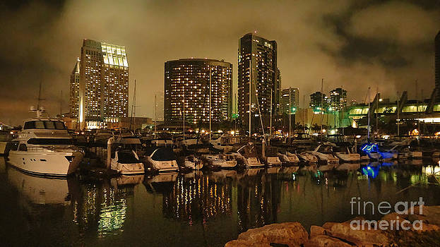 Angela A Stanton - After the Concert San Diego Harbor from the Water