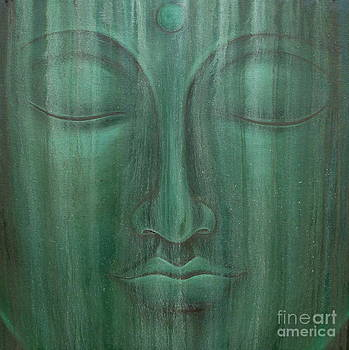 Aged Green Buddha by Gayle Utter