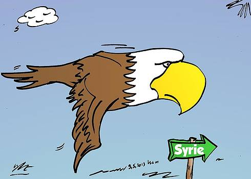 Aigle des USA vers la Syrie by OptionsClick BlogArt
