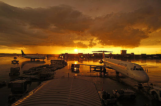 Airport after the rain by Chikako Hashimoto Lichnowsky