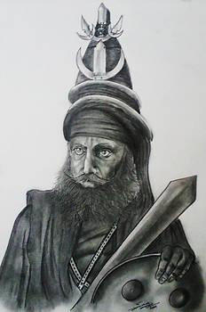 Akaali Sikh Warrior by Jaiteg Singh