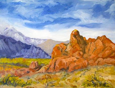 Alabama Hills looking North by Pat Crowther