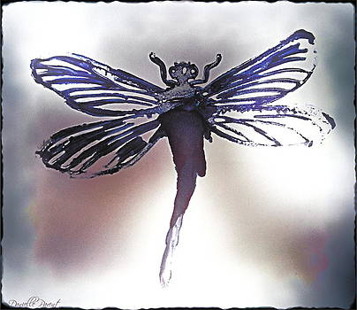 Alcohol Inks Purple Dragonfly by Danielle  Parent