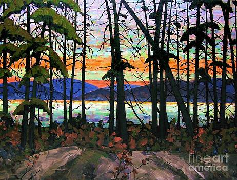 Algoma Sunset 30 x 40 - SOLD by Michael Swanson