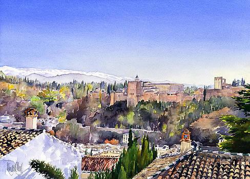 Alhambra and Sierra Nevada Granada by Margaret Merry