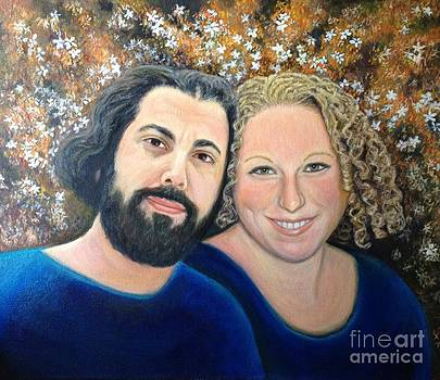 Alicia and Saar Wedding portrait by Judith Zur