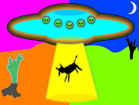Alien Abduction by Ricardo  De Almeida