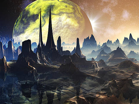Alien City Ruins on Faraway Planet by Spinning Angel