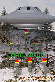 Liam Liberty - Aliens Christmas Card