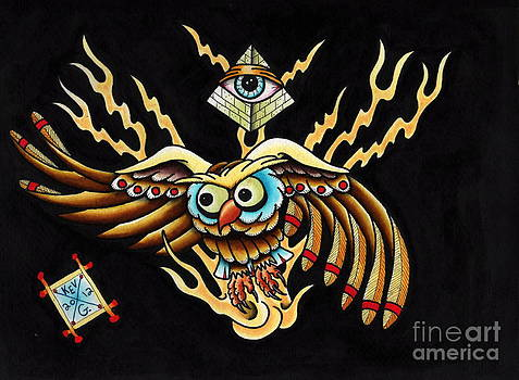 All Seeing Owl by Kevin  Guinn