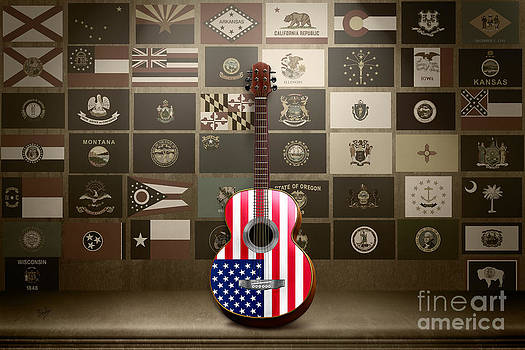 Bedros Awak - All State Flags - Retro Style