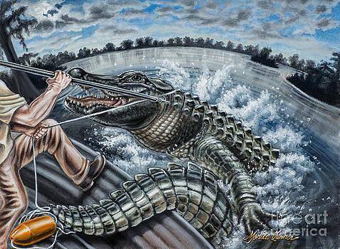Alligator Hunt by Monica Turner