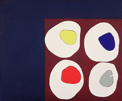 Colin Booth - Allsorts, 1998 Acrylic On Canvas