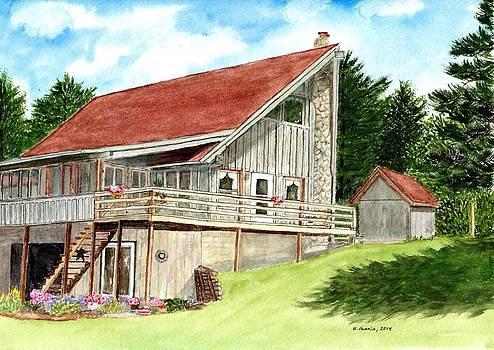 Alpine Cabin by B Kathleen Fannin