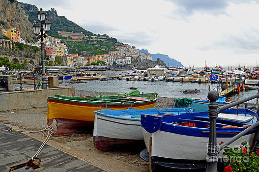 Amalfi Boats by Nancy Bradley