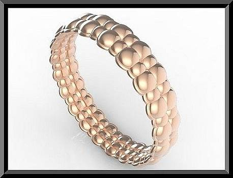 Amazing Bubble 14k Rose Gold Women Wedding Ring by Roi Avidar