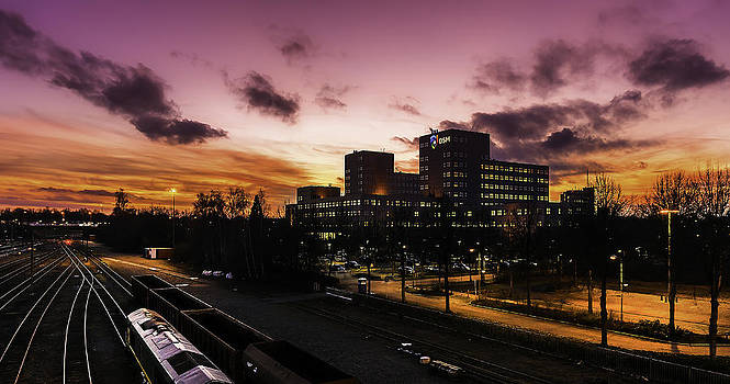 Amazing Sunset - View From Car Park by Libor Bednarik