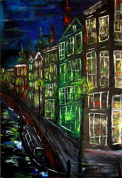 Amsterdam Night by Evaldo Art