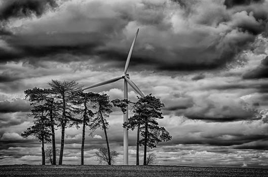 An April Sky BW by Christopher L Nelson