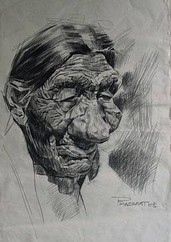 An old woman by Prashant Srivastava