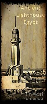 John Malone - Ancient Almontazah Lighthouse Poster Faux Antique