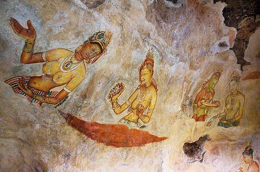 Jenny Rainbow - Ancient Cave Painting in Sigiriya. Sri Lanka