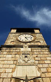 Ancient clock tower by Vladimir Jovanovic