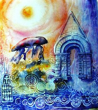 Winter Solstice- Ancient Stones of Ireland No 2.  by Trudi Doyle