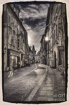 Ancient street Prague by Valerii Tkachenko