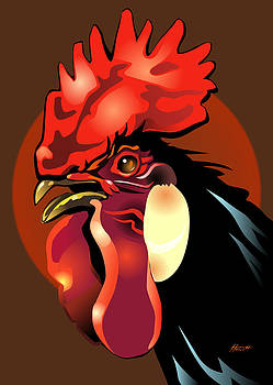 Andalusian Rooster 2 by Patricia Howitt