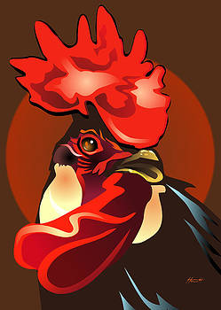 Andalusian Rooster the Second by Patricia Howitt