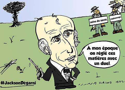 Andrew Jackson chauve dessin comique by OptionsClick BlogArt