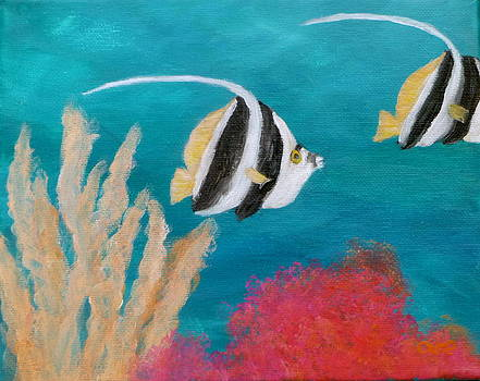 Angel Fish Painting by Amber Palomares