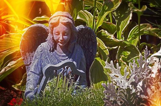 Angel of the gardens by Cheryl Cencich