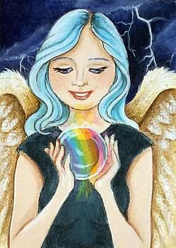 Angel Releasing a Rainbow by Debrah Nelson