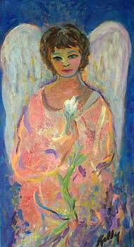 Angel with lily by Relly Peckett
