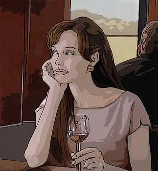 Dominique Amendola - Angelina Jolie drawing