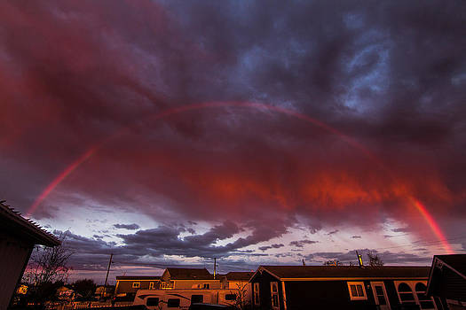 Angry Clouds and Rainbows by Valerie Pond