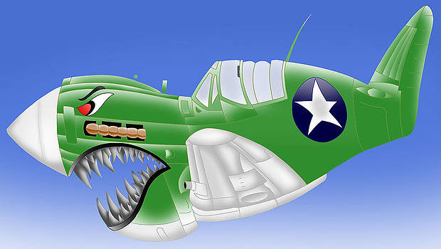 Angry P-40 by Lyle Brown