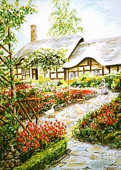 Anne Hathaway's Cottage at Stratford Upon Avon by Dee Davis
