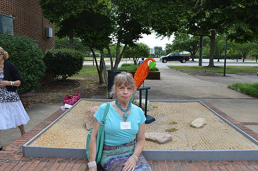 Anne-Elizabeth Whiteway - Anne  Outside of Hampton Art Exhibit