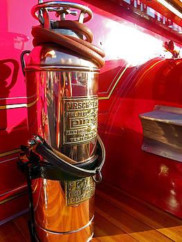 Antique Fire Extinguisher by Sarah Egan