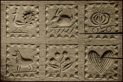 LeeAnn McLaneGoetz McLaneGoetzStudioLLCcom - Antique Handcarved Wooden Butter Mold Press