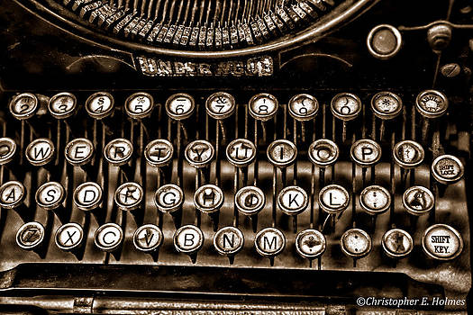 Christopher Holmes - Antique Keyboard - Sepia